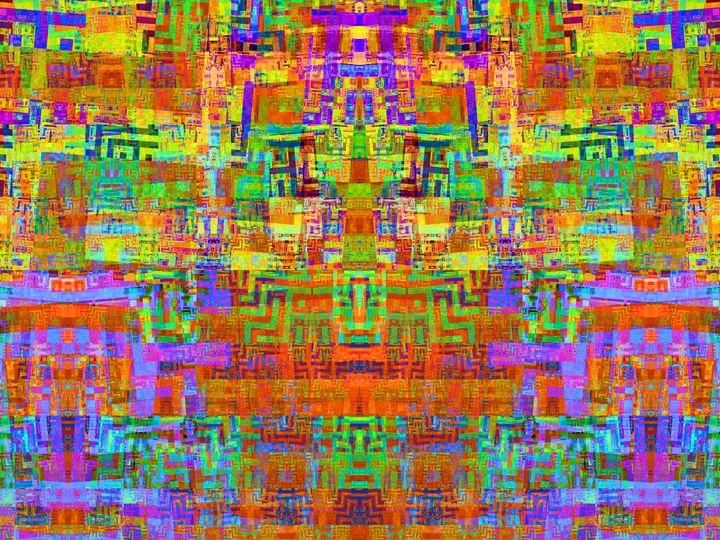 Phosphorescent mosaic of angles - pedroml