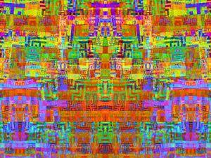 Phosphorescent mosaic of angles