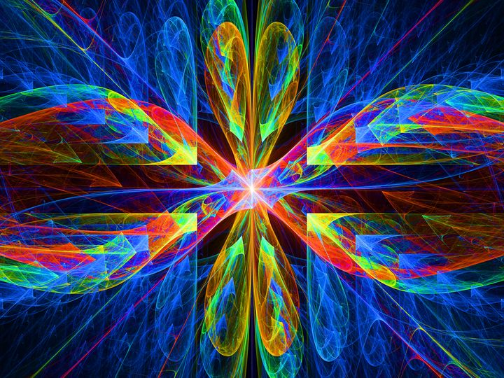 Colorful fractal dragonfly wings - pedroml