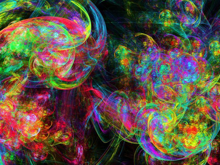 Overlapping fluorescent spiral strok - pedroml