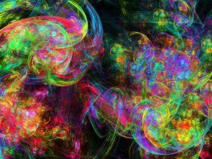 Overlapping fluorescent spiral strok