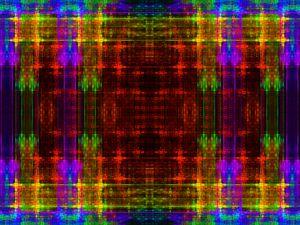Symmetrical mosaic in fantasy colors