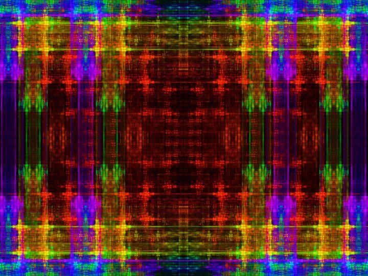 Symmetrical mosaic in fantasy colors - pedroml