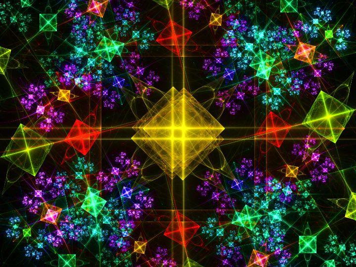 Alignment of bright geometric shapes - pedroml