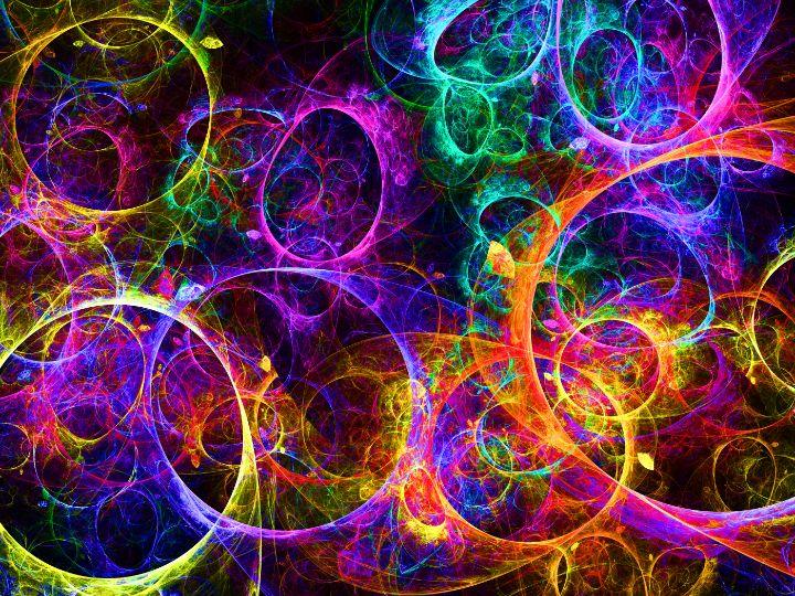 Overlapping light energy rings - pedroml