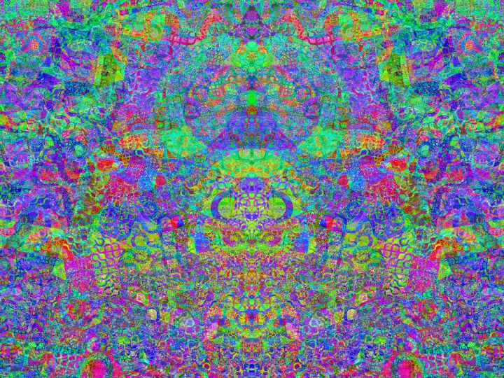 Mosaic saturated with neon colors - pedroml