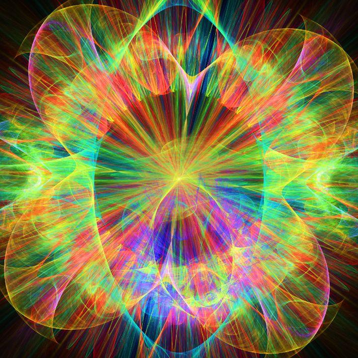 Flower of luminescent radiant lights - pedroml