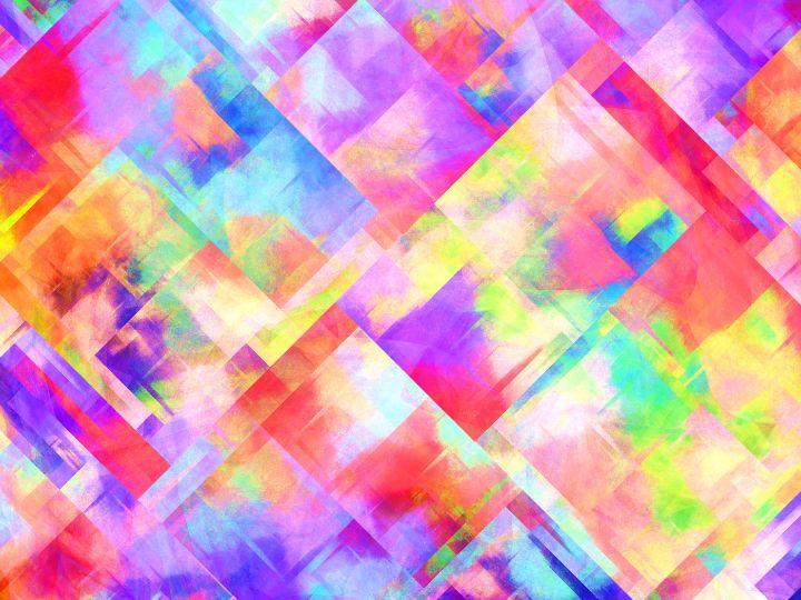 Mosaic of overlapping pastel squares - pedroml