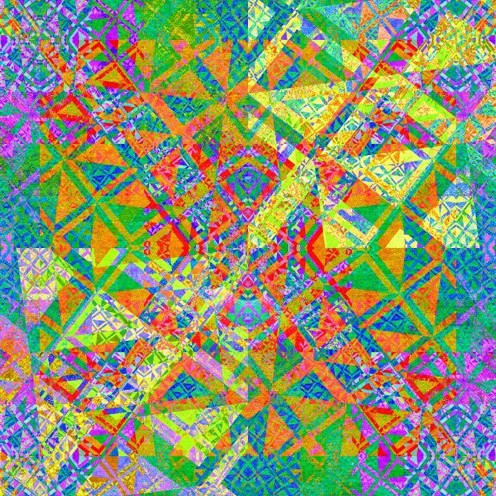 Set of colorful geometric tiles - pedroml