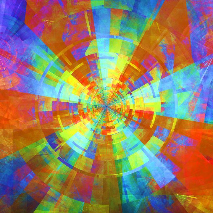 Centrifugal luminous beam tunnel - pedroml