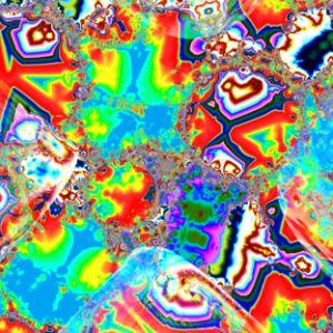 A jumble of irregular chromatic shap
