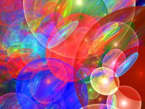 Colliding bubbles of luminous gases