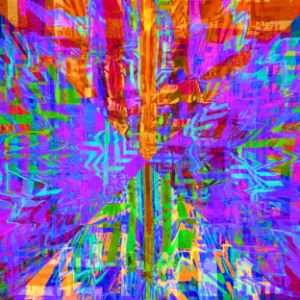 Kaleidoscopic colorful quivering str