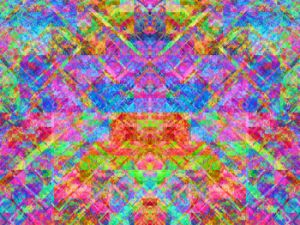 Symmetrical mosaic of stacked blobs