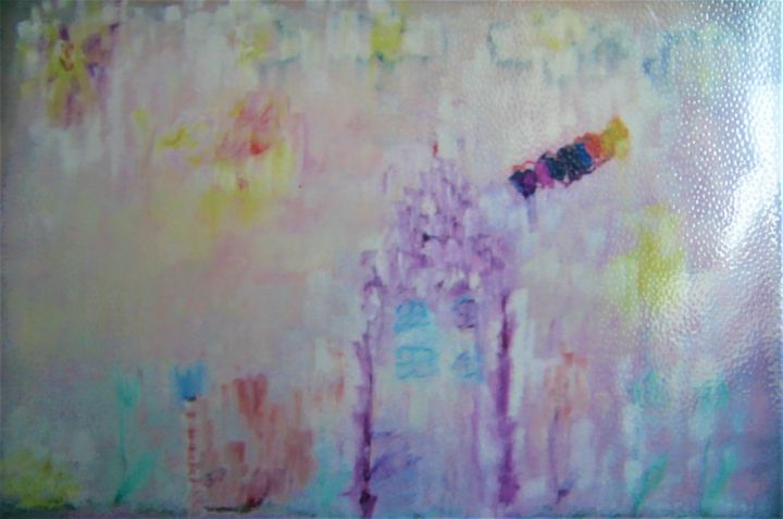 Rainbow smoke from purple house - Denes Agnes Dora