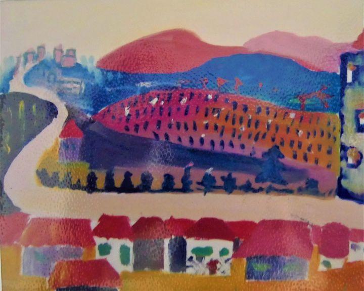 Landscape from the dawn - Denes Agnes Dora