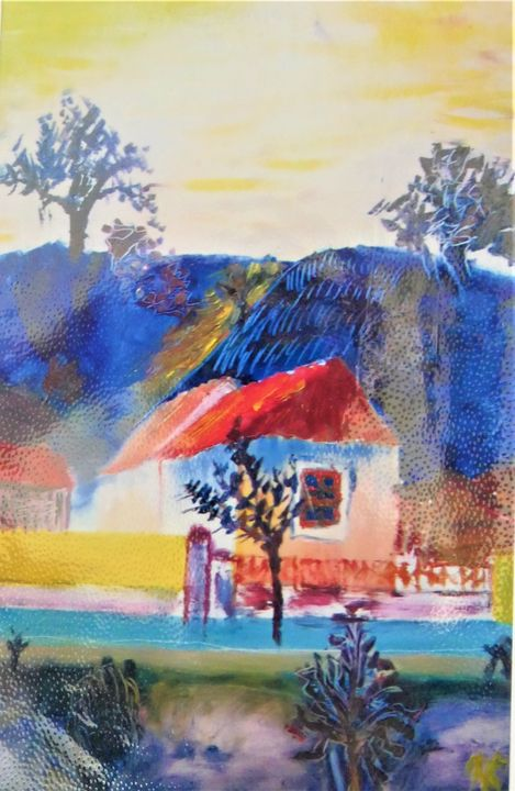 At the leg of blue mountains - Denes Agnes Dora