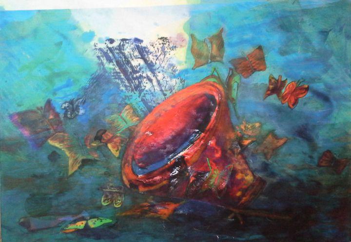 Red button under the sea - Denes Agnes Dora