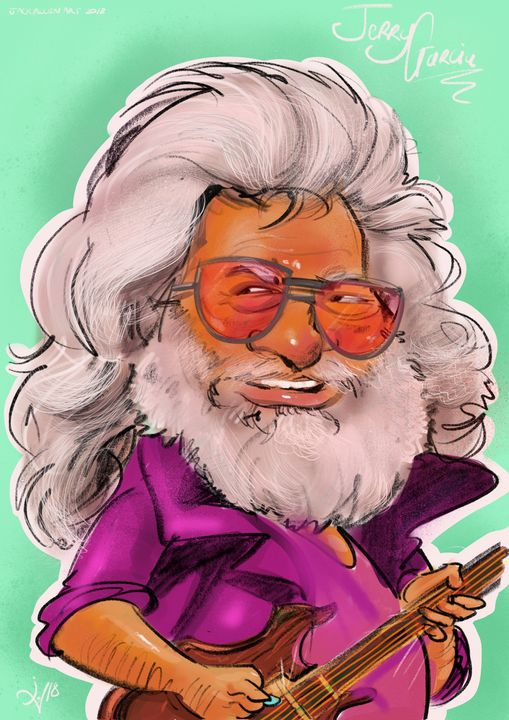 Jerry Garcia Caricature - Caricatures
