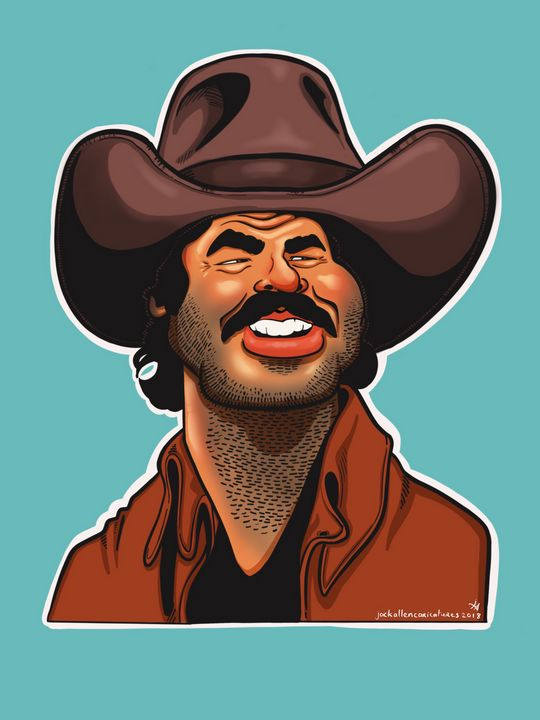 Burt Reynolds Caricature - Caricatures