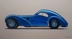 4.5. Bugatti Type 57SC Atlantic 1938 - Hamilton-Walker Art
