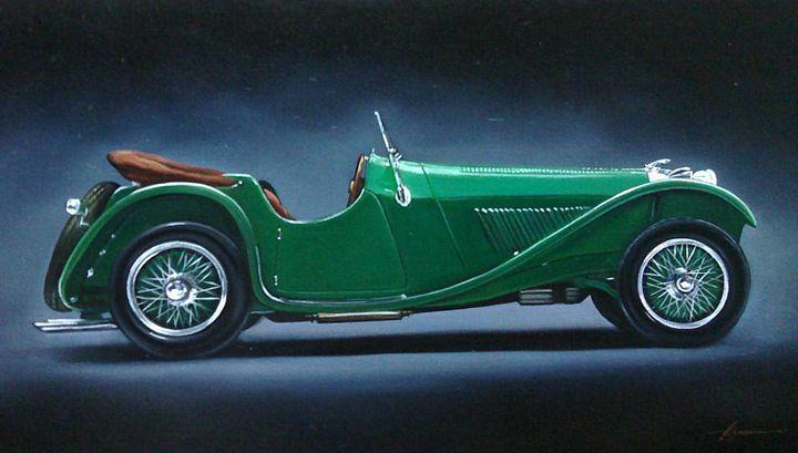 8.1. Jaguar SS100 Roadster (1936) - Hamilton-Walker Art