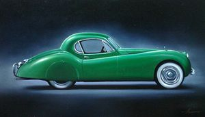8.2. Jaguar XK120 FHC (1949) - Hamilton-Walker Art