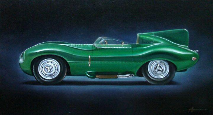 8.4. Jaguar D Type (1956) - Hamilton-Walker Art