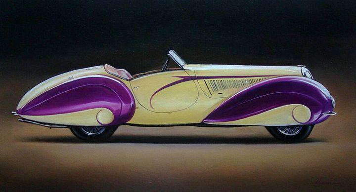 9.1. Delahaye 135M Cabriolet Figoni - Hamilton-Walker Art