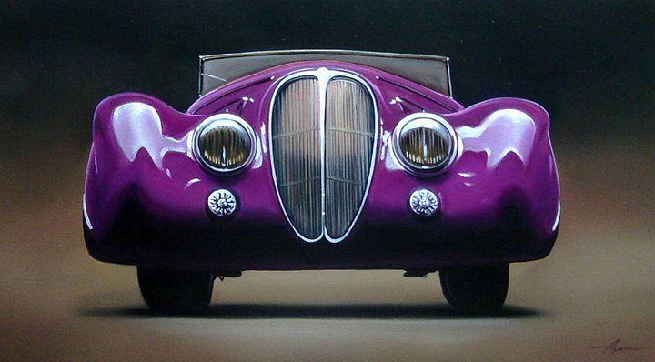 9.2. Delahaye 165 Cabriolet Figoni - Hamilton-Walker Art