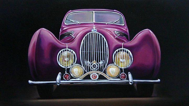 10.2. Talbot Lago T150C SS Coupe - Hamilton-Walker Art