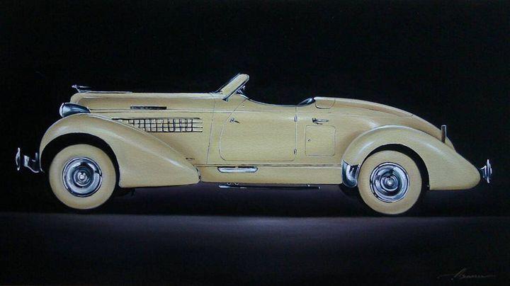 16.3. Auburn 852 Speedster (1936) - Hamilton-Walker Art