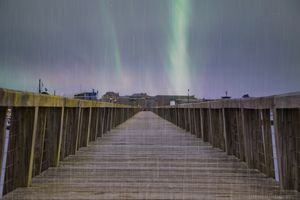 wet Boardwalk auroras