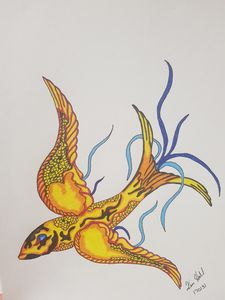 Flying koi
