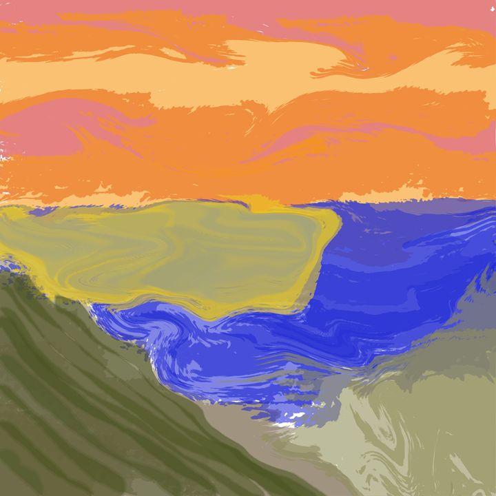 Island Sunset - Custom Art Decor