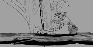 Relaxed tiger - Kura's art