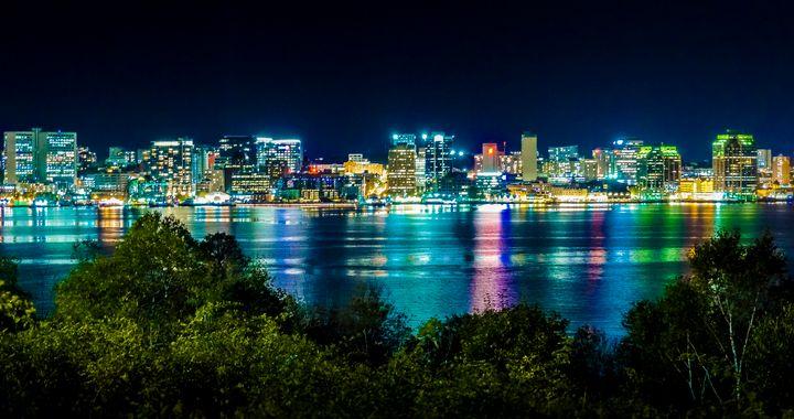 Halifax Skyline at Night - R. Tony Bremner Photography