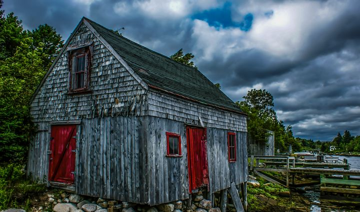 Old Fishing Shack, Herring Cove, NS - R. Tony Bremner Photography