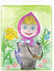 Little Orphan Girl in a pail