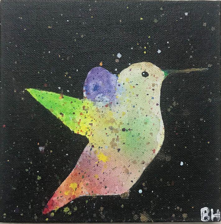Colorful Hummingbird - Burk's Art