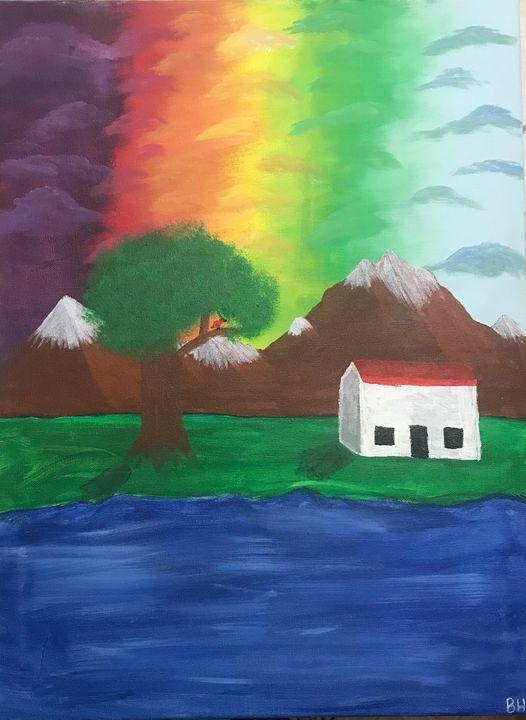 Rainbow Sky - Burk's Art