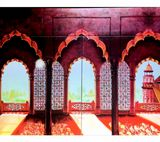 Agra fort painting