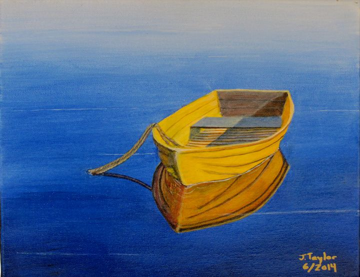 Yellow Boat - Art by JAMES B TAYLOR