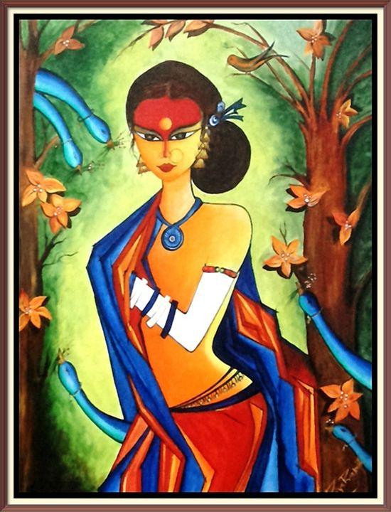 INDIAN  LADY - ishaprakash arts