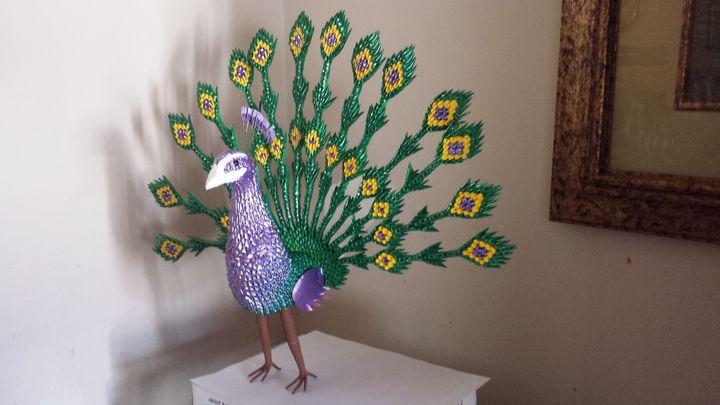 Beauty's peacock - sunshine origami