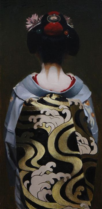 The Scarlet Fringe (Taka) - Phil Couture Fine Art