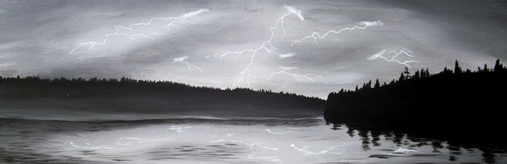 lightning landscape - minor imperfections