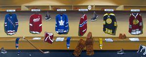 NHL Original 6 locker