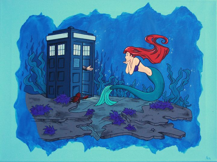 dr. who and ariel - minor imperfections