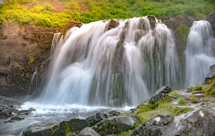 Waterfall at Sunrise - CG Cowboy